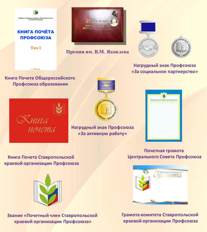 Профсоюзные награды